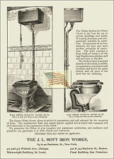 REPRINT PICTURE old MOTT IRON WORKS ad 1894 syphon jet water closet toilet 5x7