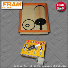 SERVICE KIT for PEUGEOT 206 1.4 8V PETROL FRAM OIL AIR FILTERS PLUGS (2000-2003)