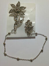 Diamante double Brooch With Chain d2