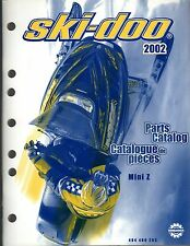 2002 SKI-DOO SNOWMOBILE MINI Z PARTS MANUAL P/N 484 400 283  (191)