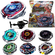 Fusion Top Rapidity Fight Metal Master Beyblade 4D Launcher Grip Set Collection