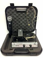VHF DUAL WIRELESS HANDHELD,HEADSET, LAPEL, MICROPHONE MIC SYSTEM, UT4 TYPE