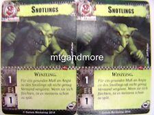 Warhammer 40000 Conquest LCG - 2x snotlings-Base Set DT.