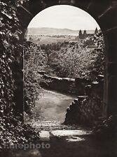 1924 Vintage GERMANY Limburg Komburg Arch Doorway Landscape Photo Art HIELSCHER