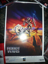 Robot Wars Mini Repro Poster signed by Charles Band.