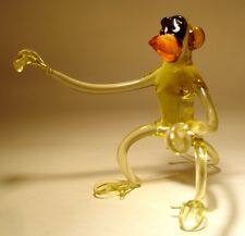 "Blown Glass ""Murano"" Art Figurine Animal Comic MONKEY"