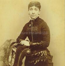 CABINET CARD PHOTO:Affluent LIGHT SKIN Black AFRICAN AMERICAN WOMAN 1st MOURNING