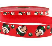 "2 Yds Christmas Licensed Disney Minnie Mouse Red Acetate Ribbon 1""W"