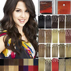 20 Inch 8PCS Clip in Remy Human Hair Extensions AAAAA Straight 20 Colors 100G