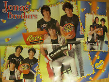 The Jonas Brothers, Zac Efron, Double Four Page Foldout Poster
