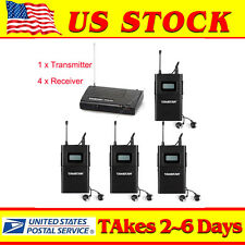 US!WPM-200 In-Ear Stereo Stage Wireless Monitor System  1 Transmitter 4 Receiver