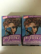 """(2) Vintage L'OREAL Performance Permanant Creame-In FRANCOISE""""S Sunset/Flame 7SF"""