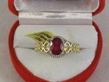 African Ruby Vintage Inspired Ring