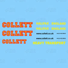 COLLETT HEAVY HAULAGE DECAL SET 1:50 SCALE