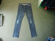 """Banana Republic SLIM FIT pierna vaqueros de cintura 32"""" 32"""" oscuro azul señoras de los pantalones vaqueros descoloridos"""