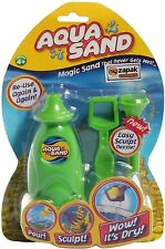 Aqua Sand Magic Coloured Play Sand For Water Set Never Gets Wet Kids Toy 4+ New