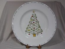 """Pottery Barn Outlet """"Christmas Cheer"""" Large Serving Plate Platter - 16"""""""