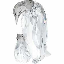SWAROVSKI PENGUIN MOTHER WITH BABY CLEAR CRYSTAL BRAND NEW IN BOX #5043728 F/SH