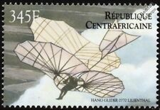 Otto Lilienthal Glider Aircraft Stamp (2000 Central African Republic)