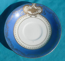 SAUCER Hakusan China Occupied Japan, Blue band with gold moriage & trim