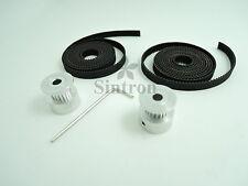 2M GT2 Zahnriemen Set + 2X GT2 20 Zahnrad Pulley for RepRap 3D Drucker Prusa i3