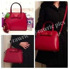 NWT Kate Spade Matthews Street Maise Pillbox Red Leather Domed Satchel $328
