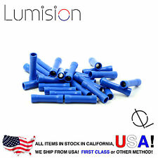25 Pack 14-16AWG Blue Gauge Butt Connector Terminal Wire Splice Connect Lumision