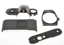 Nikon EM, spare parts; top and base plate, back, frontr pannel, sold as is