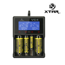 XTAR VC4 LCD USB Battery Charger Power Bank For Li-ion Ni-MH 32650 14500 AA AAA