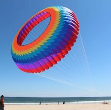 High quality 2016 Hot 3D Dia 10m Ring Kite Spinning Crown Power Sport Kite