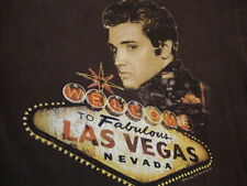 Elvis Presley Music Fan To Fabulous Las Vegas Nevada Vacation T Shirt M