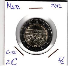 E182 MONEDA MALTA 2 EUROS SIN CIRCULAR 2012