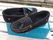 $79 new EMU Kuraby Women's Black Sheepskin Moccasins shoes US 8, EU 39
