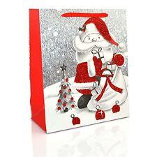1 x petit sac cadeau de Noël de luxe-paillettes décoratives sac en papier Fête Cadeaux