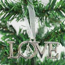 Christmas Tree Ornament Xmas Party Tree Hanger Tag Words LOVE Letter Decor