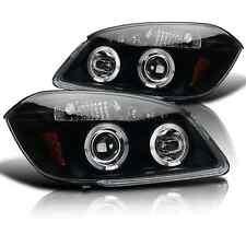 05-10 Chevy Cobalt 05-06 Pontiac Pursuit LED Halo Projector Headlights Black