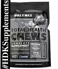 BULLY MAX-TOTAL HEALTH SOFT CHEWS 60 CT. **AUTHORIZED DEALER** DOG TREATS