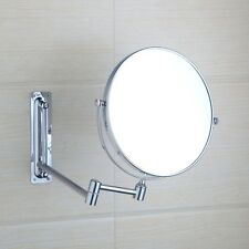 Oval Shape Chrome Wall Mounted Foldable Make Up Mirror Beauty Magnifying Mirror