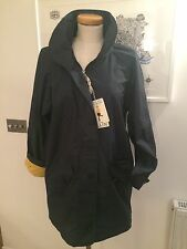 Seasalt St Michaels Mount Raincoat - Orca Dark Blue UK10 Sales Sample SAVE!!