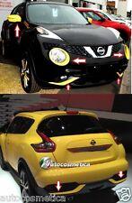 Nissan Juke 2014 cover fari +cornici paraurti anter+poster+specchi COLORE GIALLO