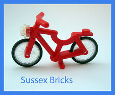 Lego City - Red Bicycle Bike Riding Cycle Minifigure - Brand New Pieces
