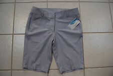 NWT Light Gray & White Pinstripe TOMMY ARMOUR Bermuda Golf Shorts 12