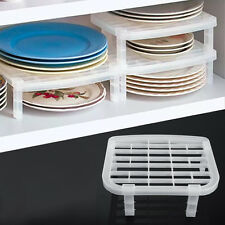 Foldable Plastic Dish Plate Drying Rack Organizer Storage Holder Kitchen Shelf