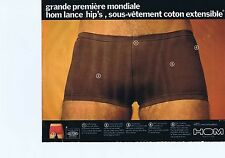 PUBLICITE ADVERTISING 045 1973 HOM sous-vêtements