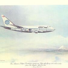 VTG Historic 1st Flight Pan Am Airline Menu Clipper Constitution April 25, 1976