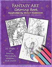 Fantasy Art Coloring Book: Fairies, mermaids, by Molly Harrison (Paperback) NEW