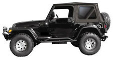 1997-2006 Jeep Wrangler Soft Top Replacement Canvas &3 Tinted Rear Windows black