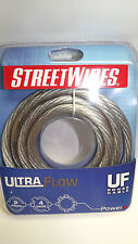 StreetWires UFX407S 7ft.of 4 Gauge Ultra Flow Series Clear Power/Ground Cable