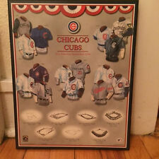 Chicago Cubs History of Jerseys/Home Field Wooden Plaque Cooperstown Collection