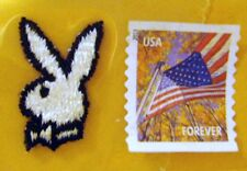 "VINTAGE BUNNY WITH BOW TIE ""PLAYBOY STYLE"" - IRON ON PATCH NEW"
